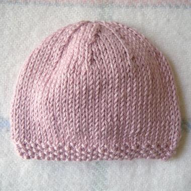 photo tricot modele tricot bonnet bebe naissance 9
