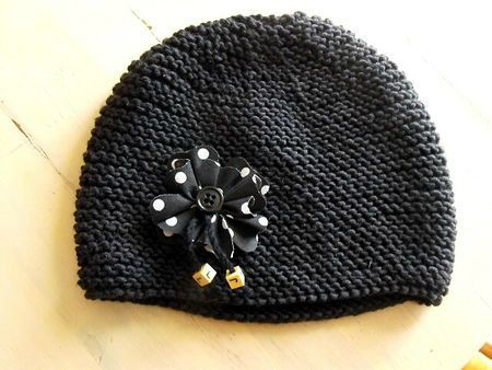 photo tricot modele tricot bonnet fille 2 ans 9