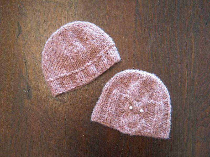 photo tricot modele tricot bonnet fille 2 ans