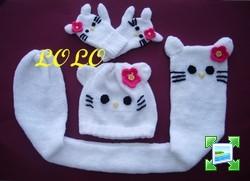photo tricot modele tricot bonnet hello kitty 3