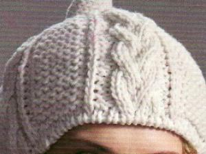 photo tricot modele tricot bonnet homme torsade 12