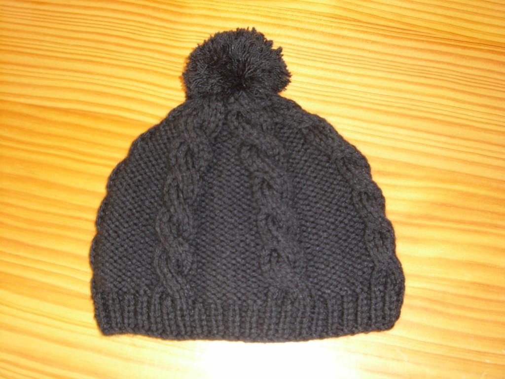 photo tricot modele tricot bonnet homme torsade 8