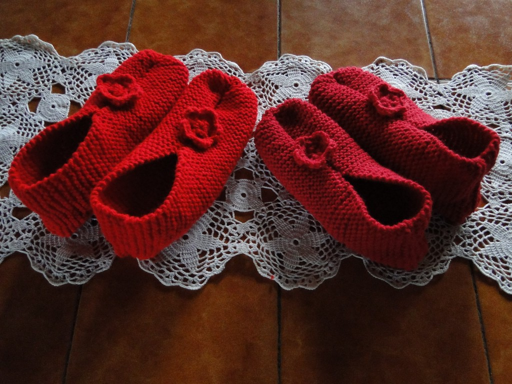 photo tricot modele tricot chausson adulte facile