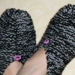 photo tricot modele tricot chausson adulte facile 12