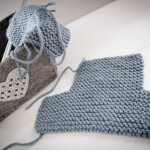 photo tricot modele tricot chausson adulte facile 13