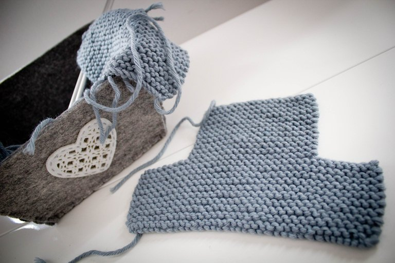 photo tricot modele tricot chausson adulte facile 13