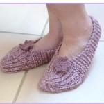 photo tricot modele tricot chausson adulte facile 14