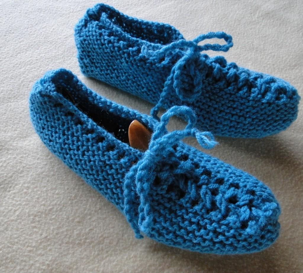 photo tricot modele tricot chausson adulte facile 15