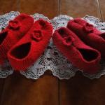 photo tricot modele tricot chausson adulte facile