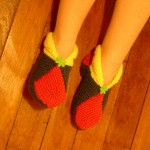 photo tricot modele tricot chausson adulte facile 18
