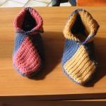 photo tricot modele tricot chausson adulte facile 2