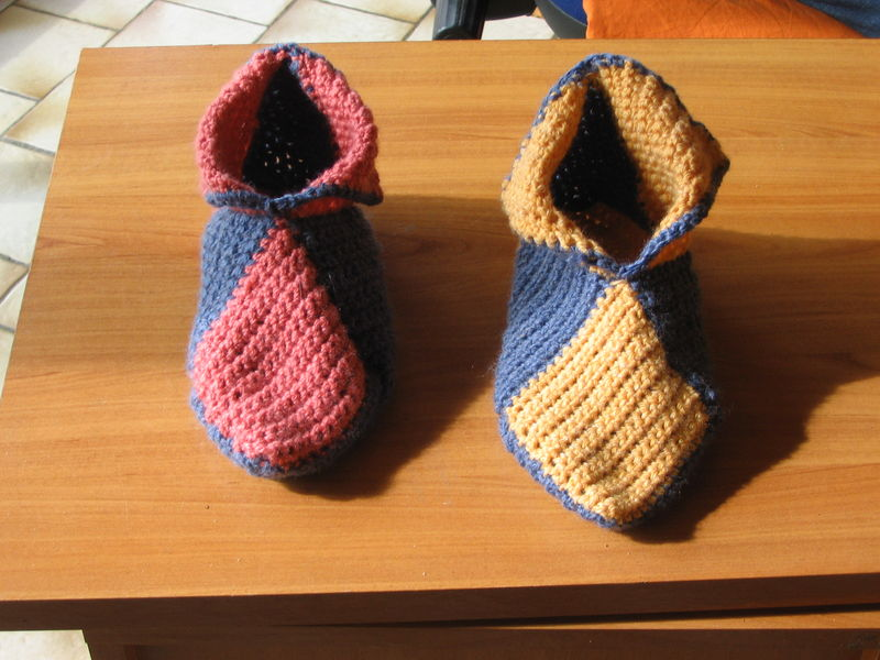 photo tricot modele tricot chausson adulte facile 2
