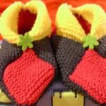 photo tricot modele tricot chausson adulte facile 3