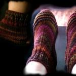 photo tricot modele tricot chausson adulte facile 5