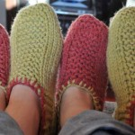 photo tricot modele tricot chausson adulte facile 6