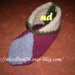 photo tricot modele tricot chausson adulte facile 9