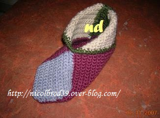 photo tricot modele tricot chausson adulte facile 9