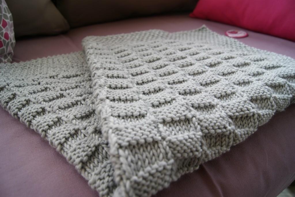 Patron tricot gratuit couverture - Modele plaid tricot gratuit ...