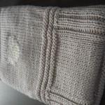 photo tricot modele tricot couverture bébé facile