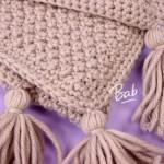 photo tricot modele tricot couverture bébé facile 17