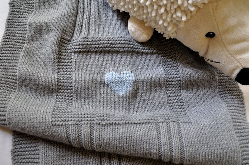 photo tricot modele tricot couverture bébé facile 2