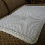 photo tricot modele tricot couverture bébé facile 5