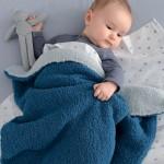 photo tricot modele tricot couverture bébé facile 6