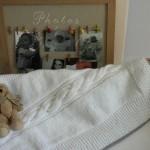 photo tricot modele tricot couverture torsade 10