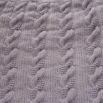 photo tricot modele tricot couverture torsade 12
