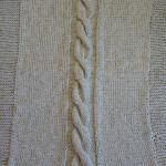 photo tricot modele tricot couverture torsade 15