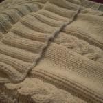 photo tricot modele tricot couverture torsade 16