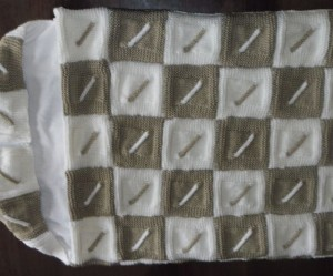 photo tricot modele tricot couverture torsade 18