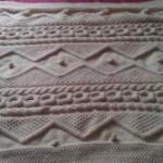 photo tricot modele tricot couverture torsade 2