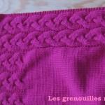 photo tricot modele tricot couverture torsade 7
