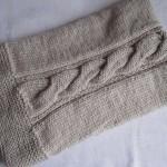 photo tricot modele tricot couverture torsade 8