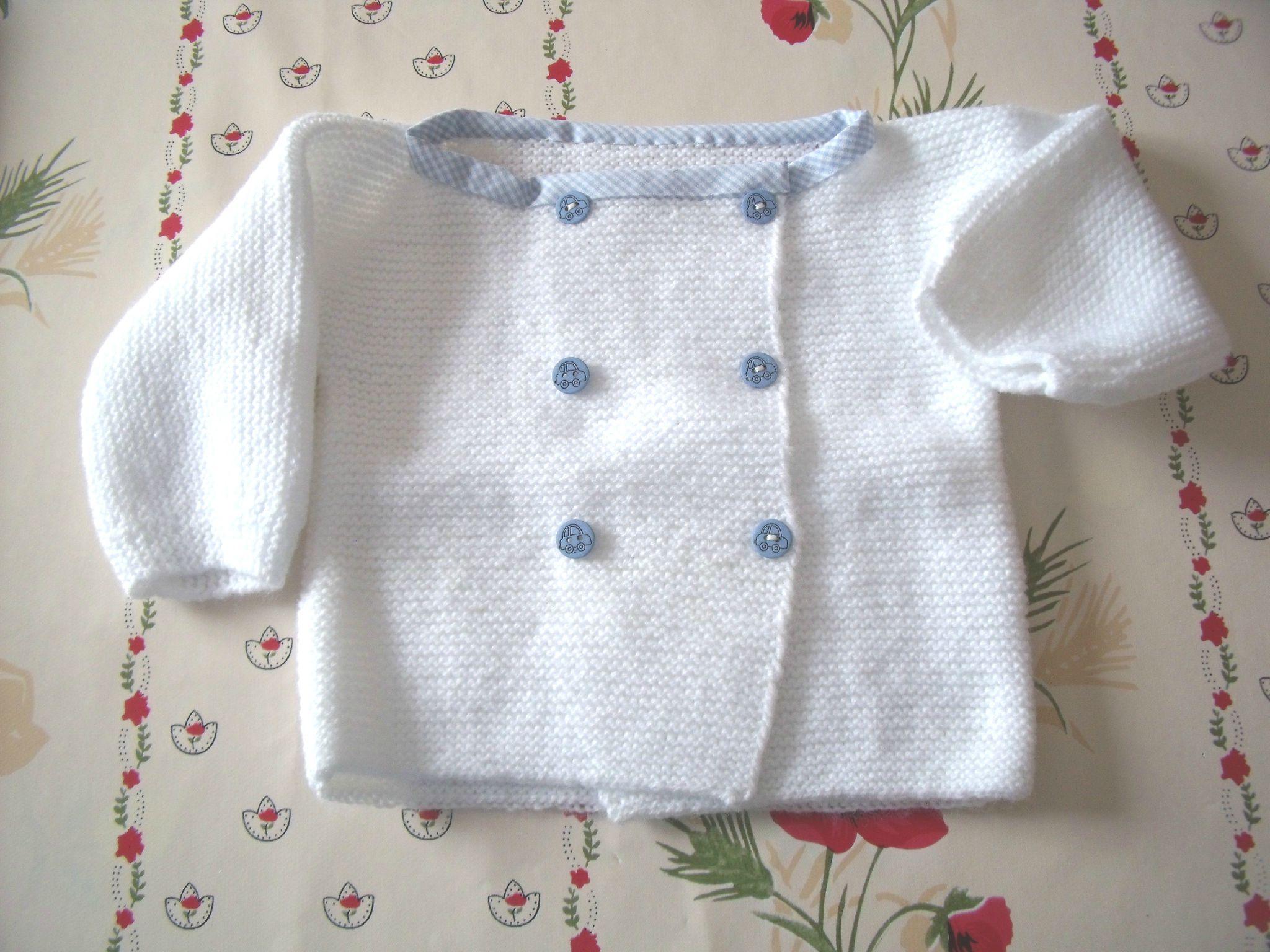 photo tricot modele tricot debutant layette 15