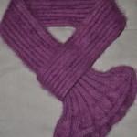 photo tricot modele tricot echarpe femme