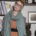 photo tricot modele tricot echarpe femme 2
