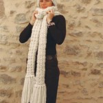 photo tricot modele tricot echarpe femme 6