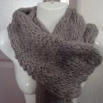 photo tricot modele tricot echarpe femme 7