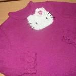 photo tricot modele tricot echarpe hello kitty 18