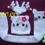 photo tricot modele tricot echarpe hello kitty 3