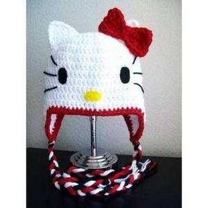Comment tricoter un bonnet hello kitty
