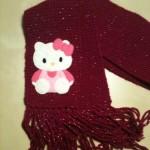 photo tricot modele tricot echarpe hello kitty 6