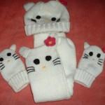 photo tricot modele tricot echarpe hello kitty 7