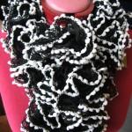 photo tricot modele tricot echarpe katia