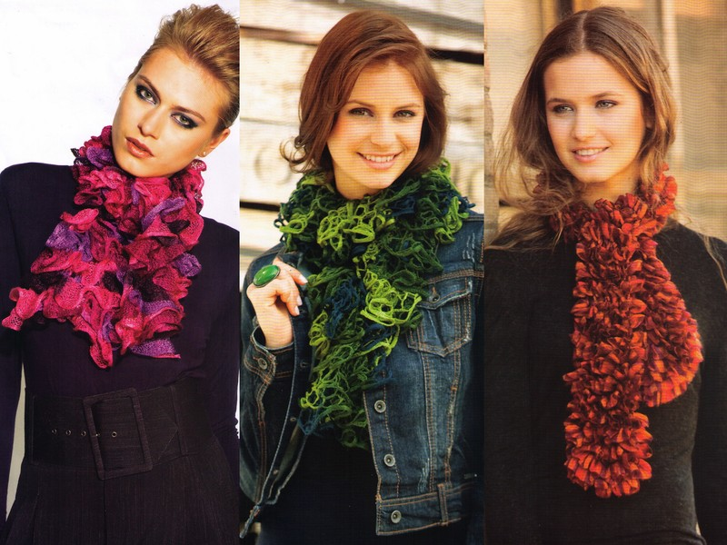 photo tricot modele tricot echarpe katia 7