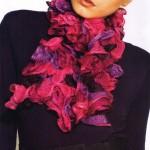 photo tricot modele tricot echarpe laine katia 14