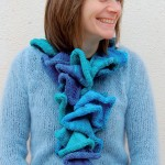 photo tricot modele tricot echarpe spirale 10