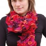 photo tricot modele tricot echarpe spirale 12